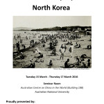 """March 15-17 – """"Culture and Everyday Life in North Korea"""""""